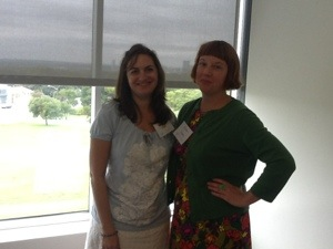 Samantha Clark and Kirsten Cappy at Austin SCBWI